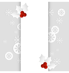 christmas card paper template vertical vector image