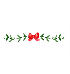 Christmas decoration watercolor vector