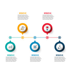 Circle elements for timeline infographic vector