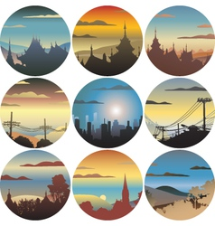 Circular views vector image