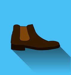 classic chelsea shoe style boot icon with long vector image