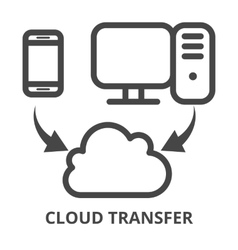 Cloud synchronization icon vector