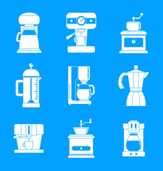 coffee maker pot espresso icons set simple style vector image