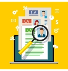 Concept of searching professional staff vector image