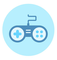 console icon video games controller on blue vector image