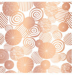 copper rose gold foil texture circle shape pattern vector image