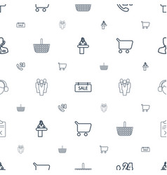 Customer icons pattern seamless white background vector