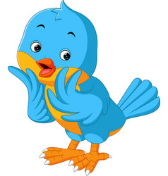 cute bird cartoon vector image