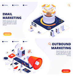 e-mail outbound internet marketing vector image