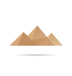 Egypt pyramids icon vector image