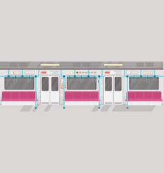 empty of modern subway vector image