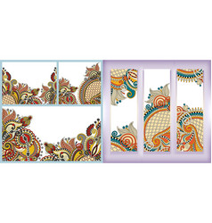 ethnic floral paisley design to banner greeting vector image