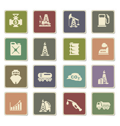 Extraction oil icon set vector
