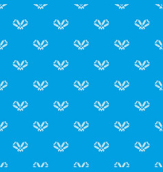Filling wheat pattern seamless blue vector