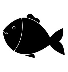 fish pet isolated icon vector image