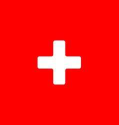 flag switzerland in flat design flag switzerland vector image
