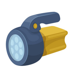 flashlighttent single icon in cartoon style vector image