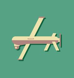 flat icon design collection military drone in vector image