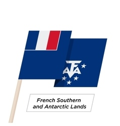 French southern and antarctic lands ribbon waving vector