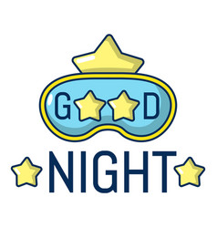 good night icon cartoon style vector image vector image