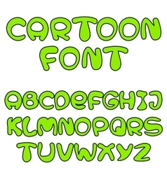 green cartoon font vector image