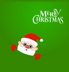 happy christmas santa claus with text merry vector image