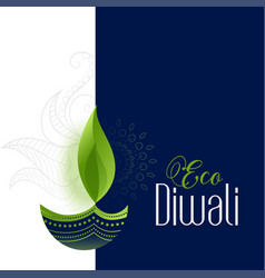 Happy eco and safe diwali concept background vector