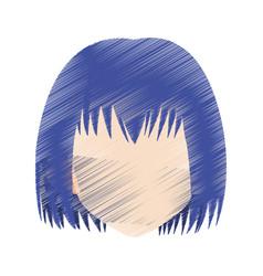 Head of woman cartoon icon image vector