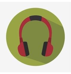 headset hearphones sound icon vector image