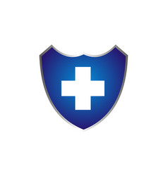 healthy care shield vector image
