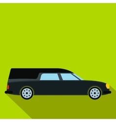 Hearse car flat icon vector