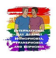 homophobia transphobia and biphobia vector image