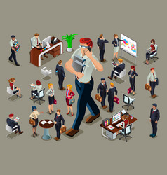 isometric people businessmen vector image