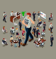 Isometric people businessmen vector