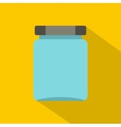 Jar icon flat style vector