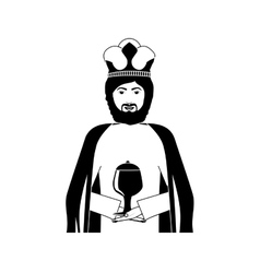 king chracter casino icon vector image