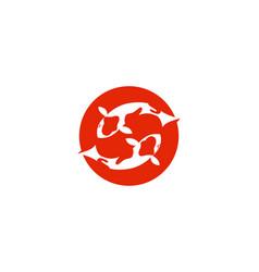 koi fish logo and symbols template icons vector image