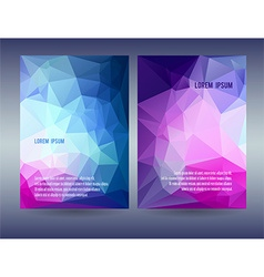 Low polygonal triangular blue vector image