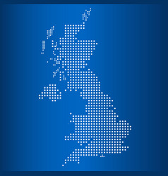 Matrix map of united kingdom vector