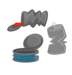 Metal cans or conservation container icon vector