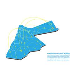 Modern of jordan map connections network design vector