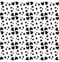 Monochrome pattern with imitation feathers vector image