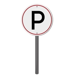 Parking traffic sign icon vector