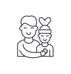 patient care line icon concept patient care vector image