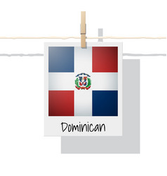 Photo of dominican republic flag vector