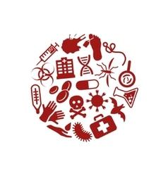 Plague icons in circle vector