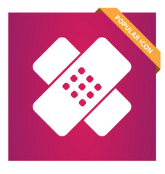Plaster sign bandage icon for web and mobile vector