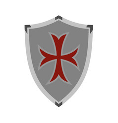 protective shield icon flat style vector image