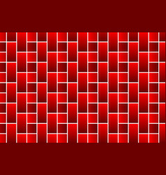 red bricks - pattern vector image
