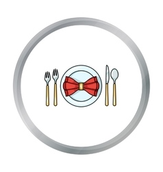 Restaurant table cartoonting icon in cartoon style vector image